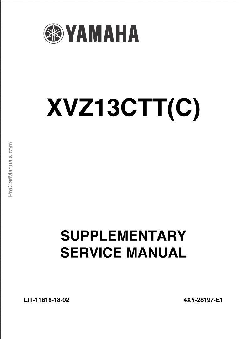 Yamaha XVZ13TFL XVZ13TFLC 2004 Supplementary Service