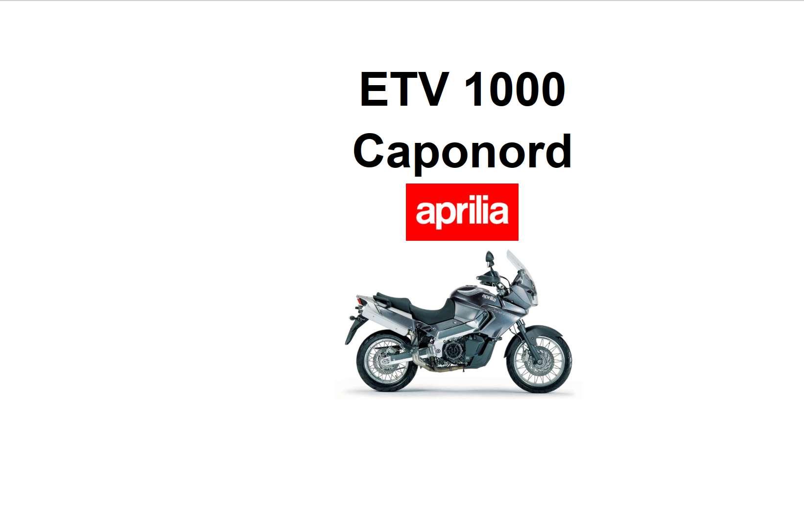 Aprilia ETV 1000 Caponord 2007 Owner's Manual