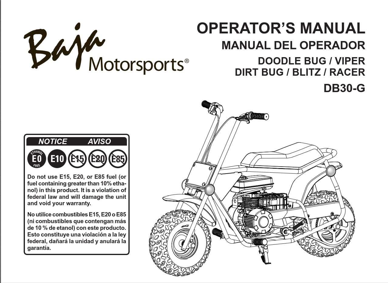 Baja Doodle Bug Viper Db30 G Owner S Manual