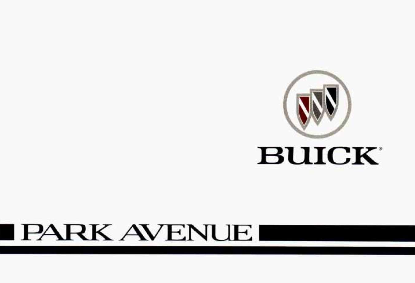 Buick Park Avenue 1996 Owner's Manual
