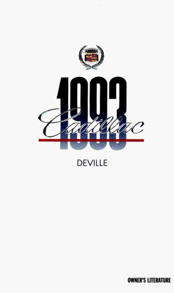 Cadillac Deville 1993 Owner's Manual