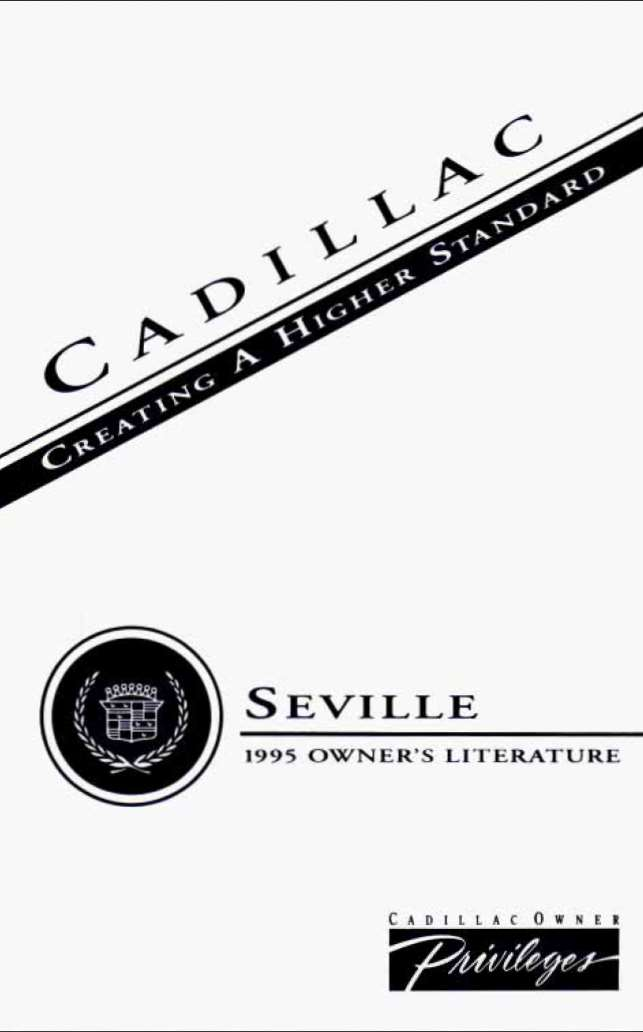 Cadillac Seville 1995 Owner's Manual