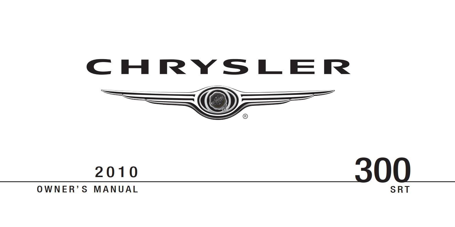 Chrysler 300 Srt8 2010 Owner's Manual