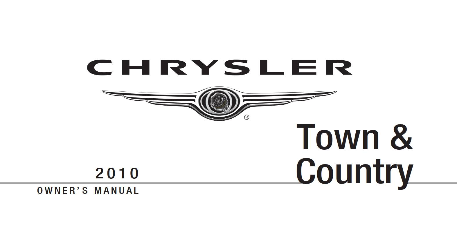 Chrysler Town And Country 2010 Owner's Manual
