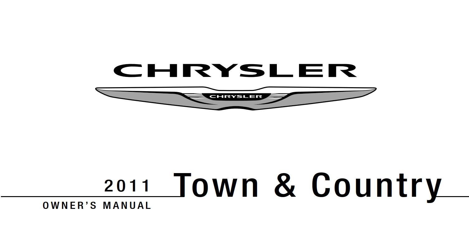 Chrysler Town And Country 2011 Owner's Manual