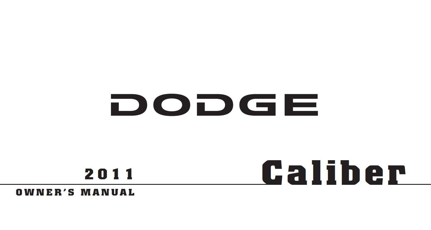 Dodge Caliber 2011 Owner's Manual