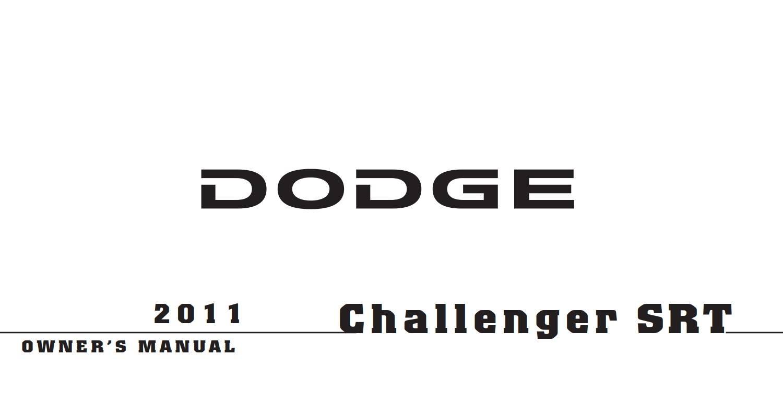 Dodge Challenger Srt8 2011 Owner's Manual