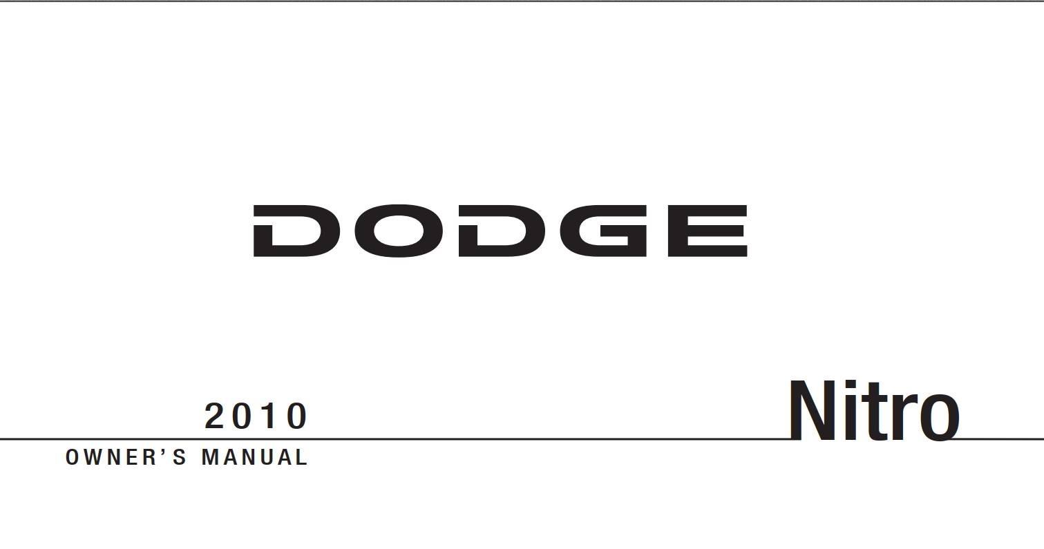 Dodge Nitro 2010 Owner's Manual