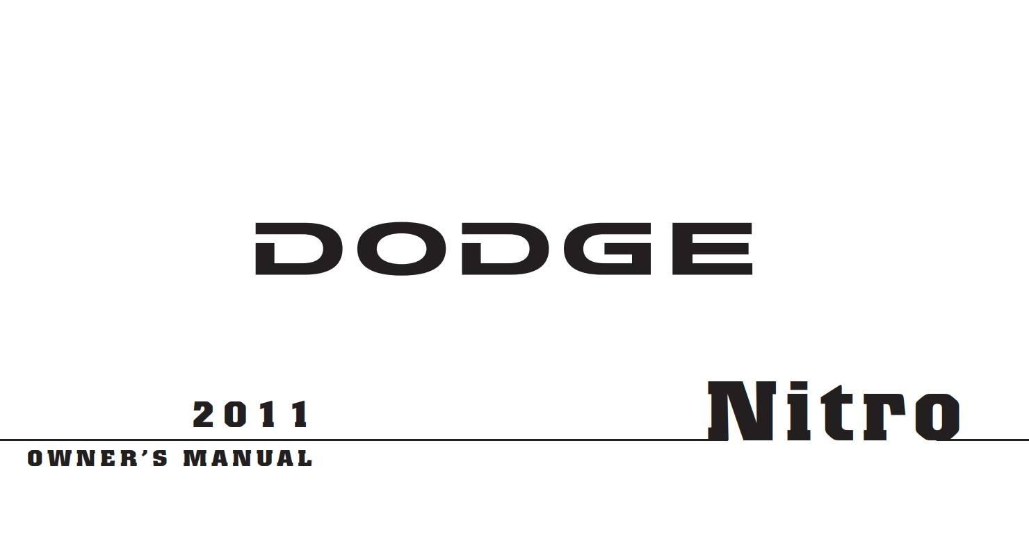 Dodge Nitro 2011 Owner's Manual