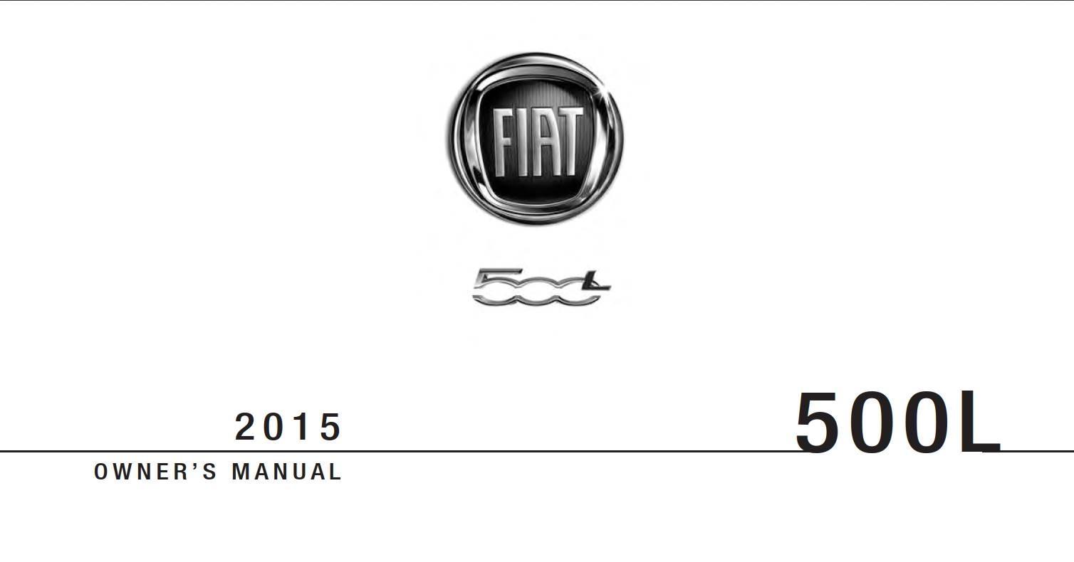 Fiat 500L 2015 Owner's Manual