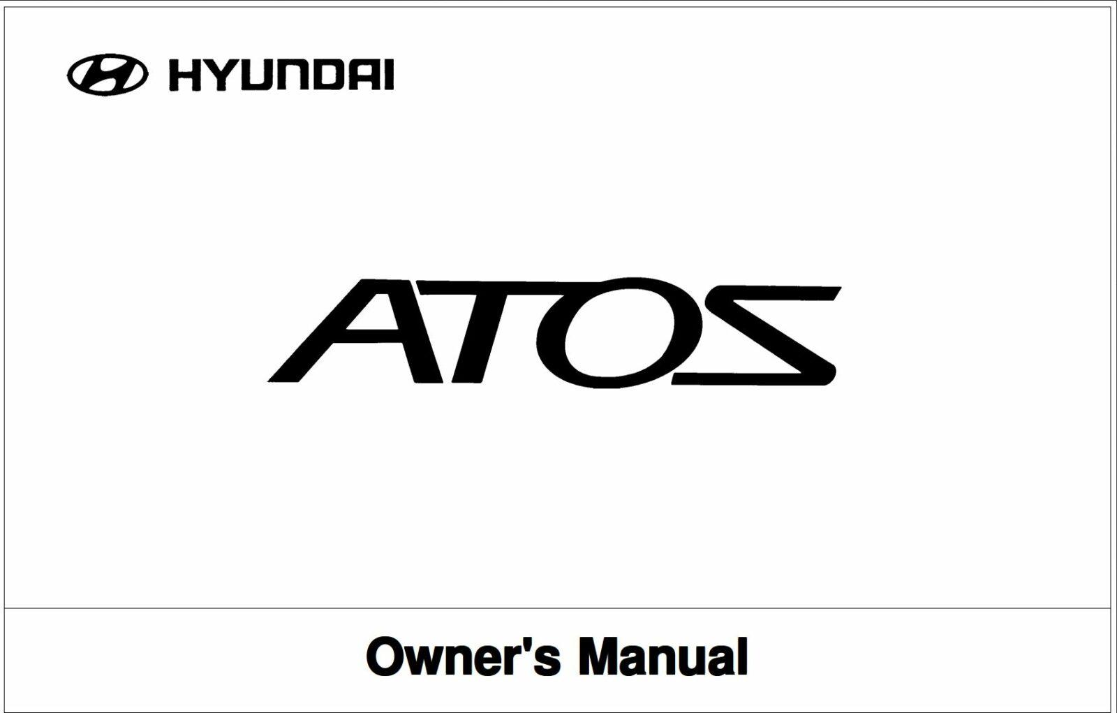 Hyundai Atos 2002 Owner's Manual
