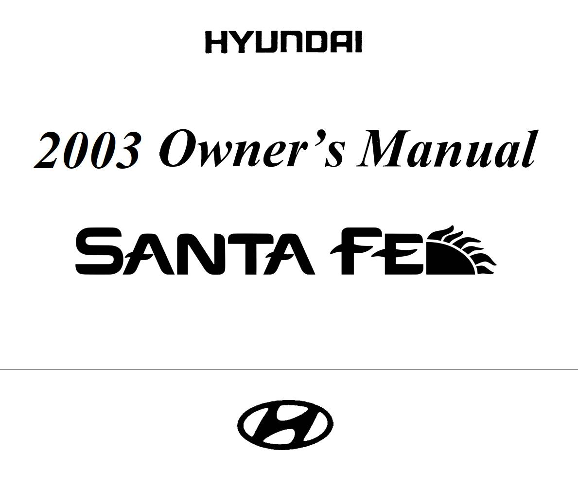 Hyundai Santa-Fe 2003 Owner's Manual