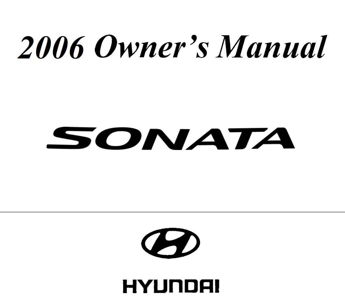 Hyundai Sonata 2006 Owner's Manual