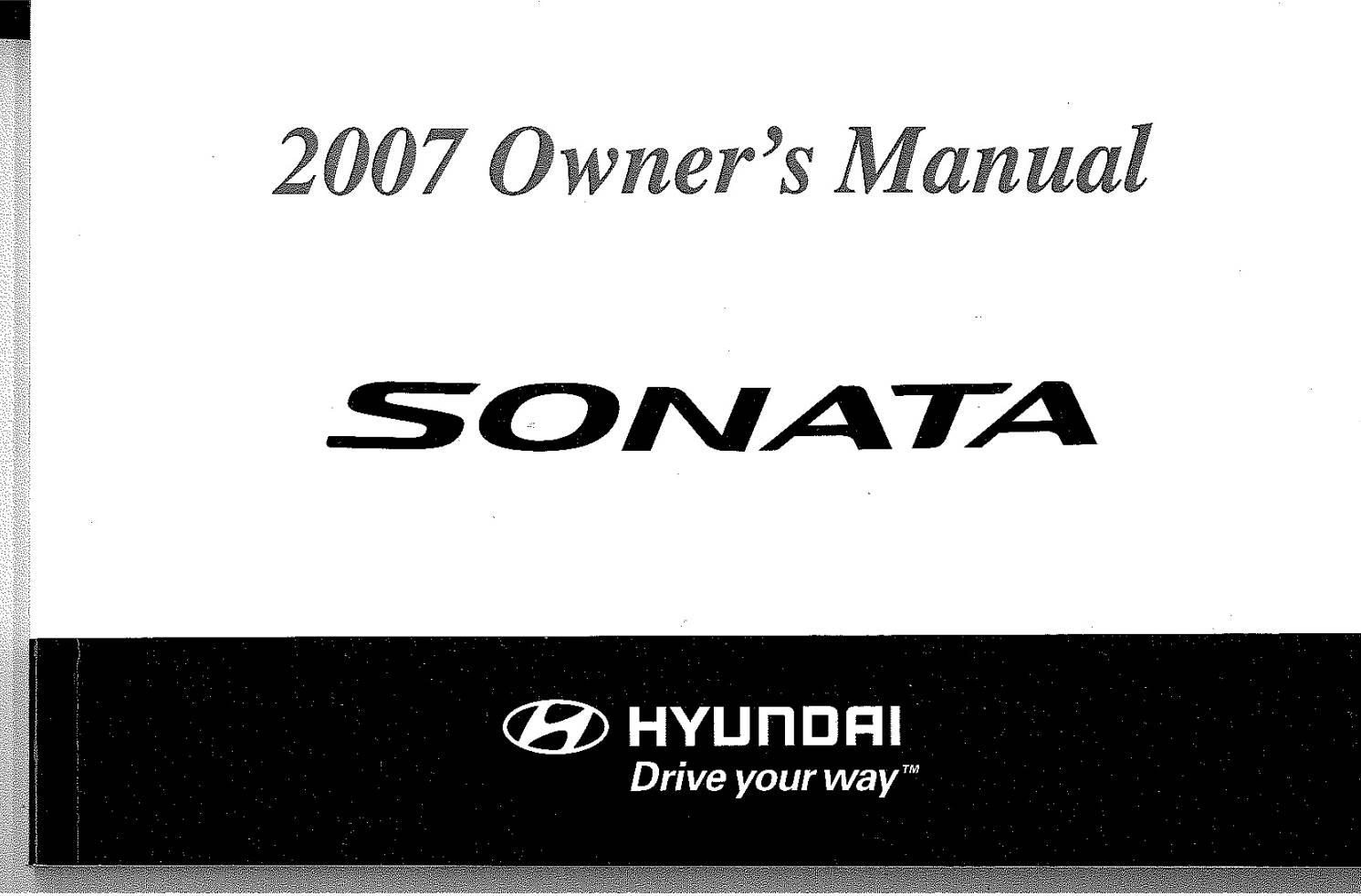 Hyundai Sonata 2007 Owner's Manual