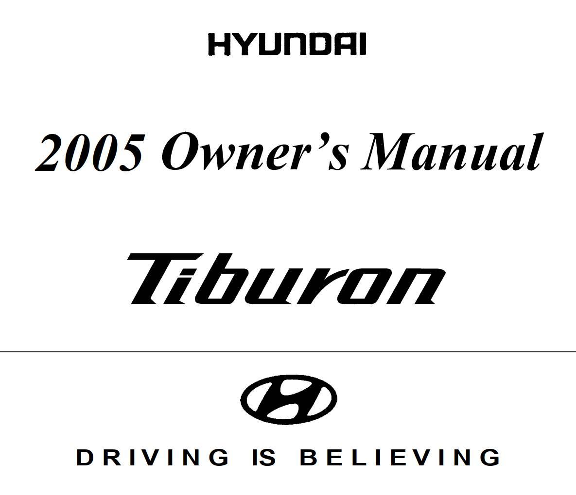 Hyundai Tiburon 2005 Owner's Manual