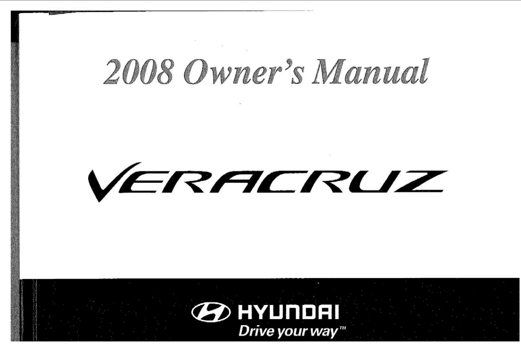 Hyundai Veracruz 2008 Owner's Manual