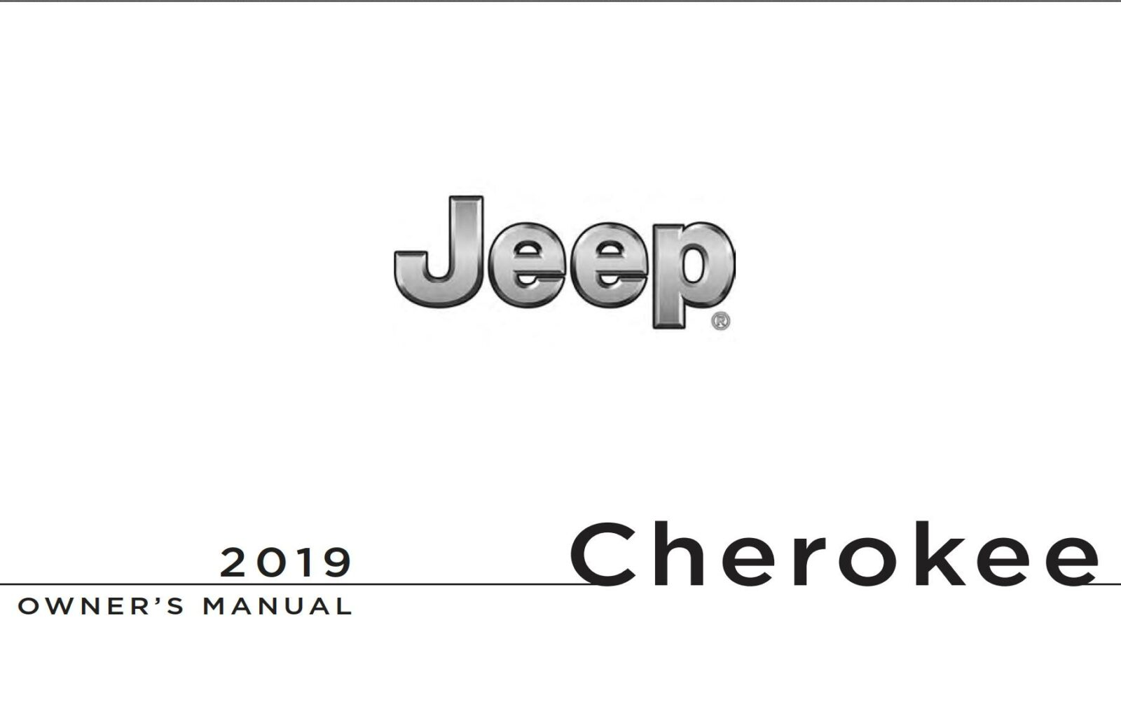 Jeep Cherokee 2019 Owner's Manual
