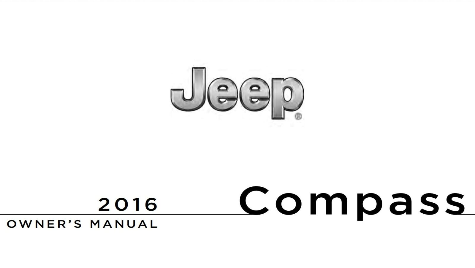 Jeep Compass 2016 Owner's Manual