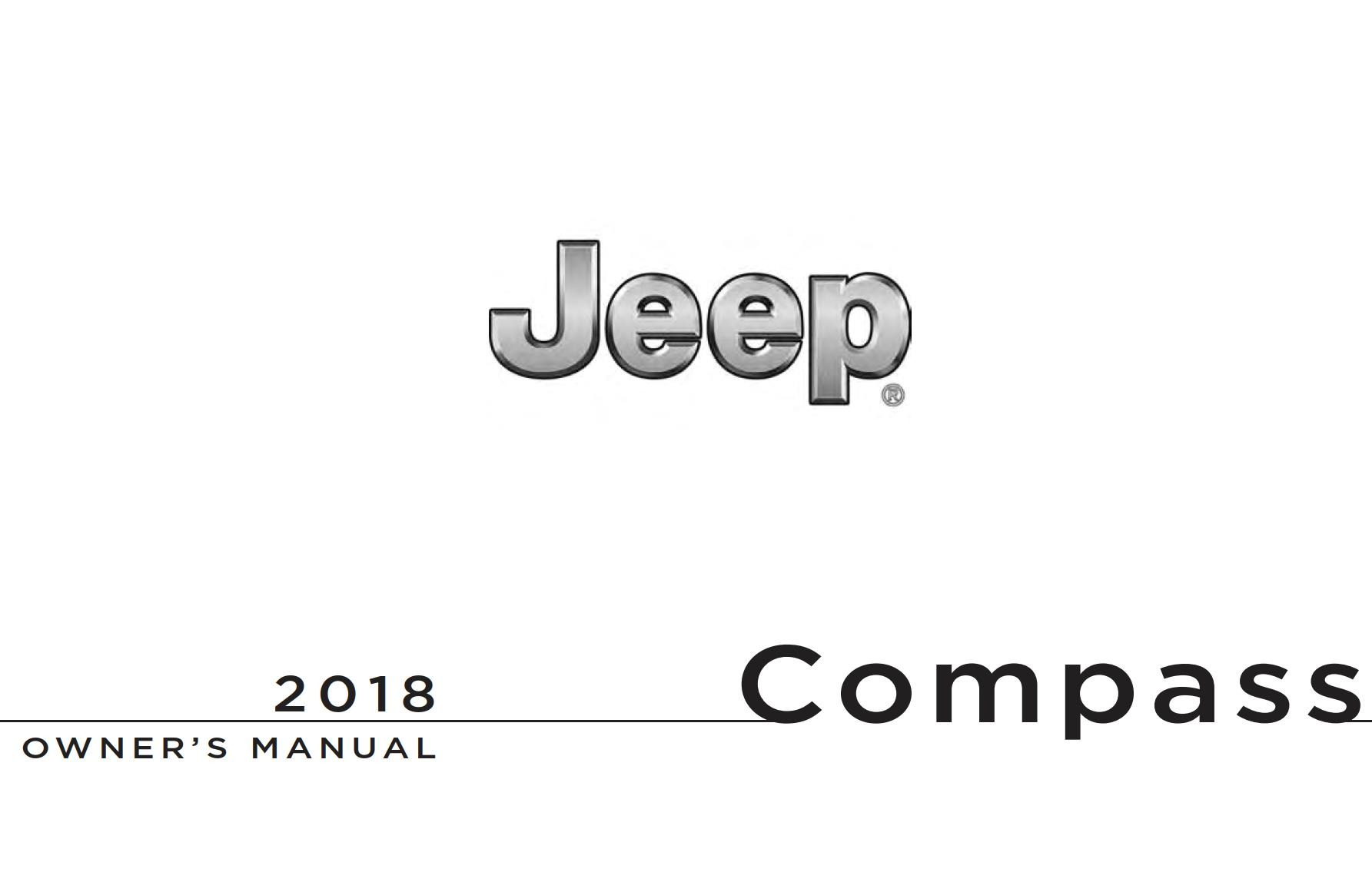 Jeep Compass 2018 Owner's Manual