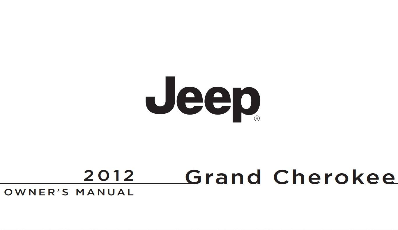 Jeep Grand-Cherokee 2012 Owner's Manual