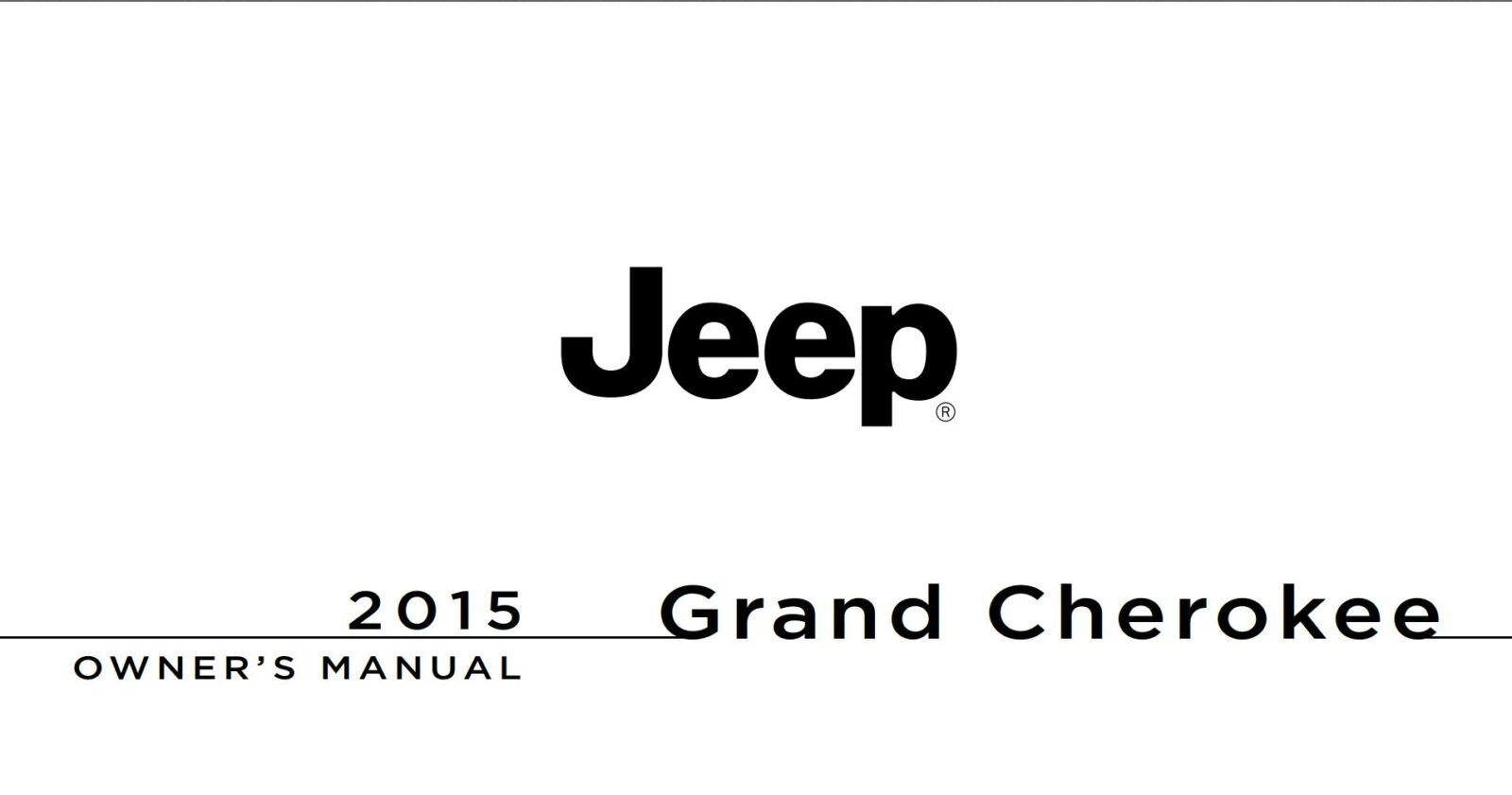 Jeep Grand Cherokee 2015 Owner's Manual