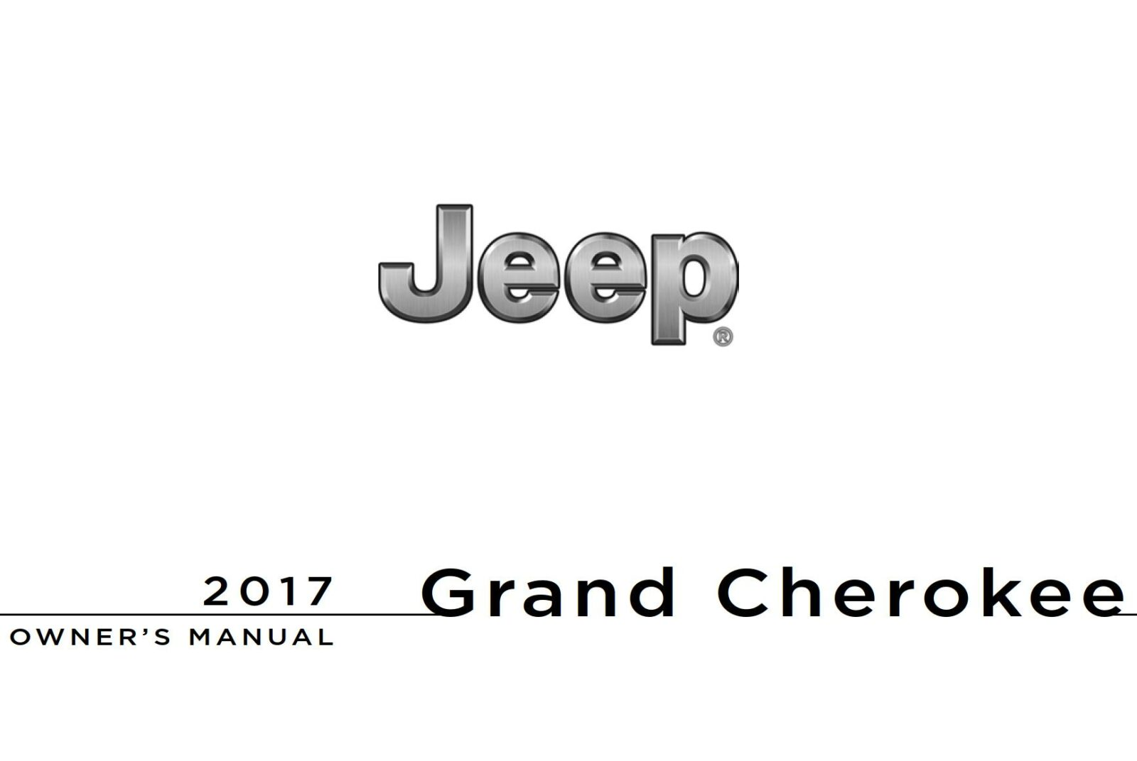 Jeep Grand Cherokee 2017 Owner's Manual