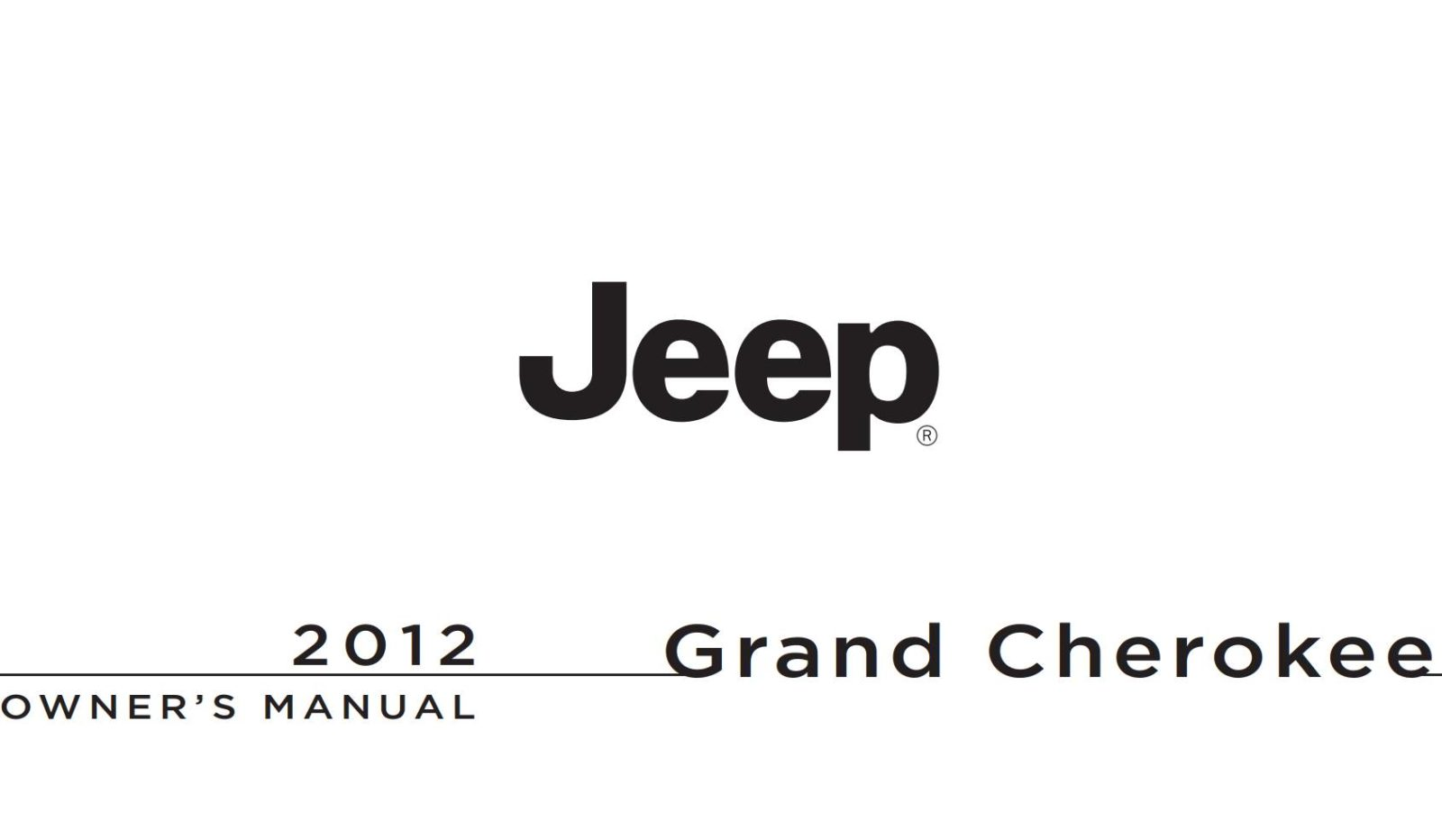 Jeep Grand Cherokee Ulx9 2012 Owner's Manual