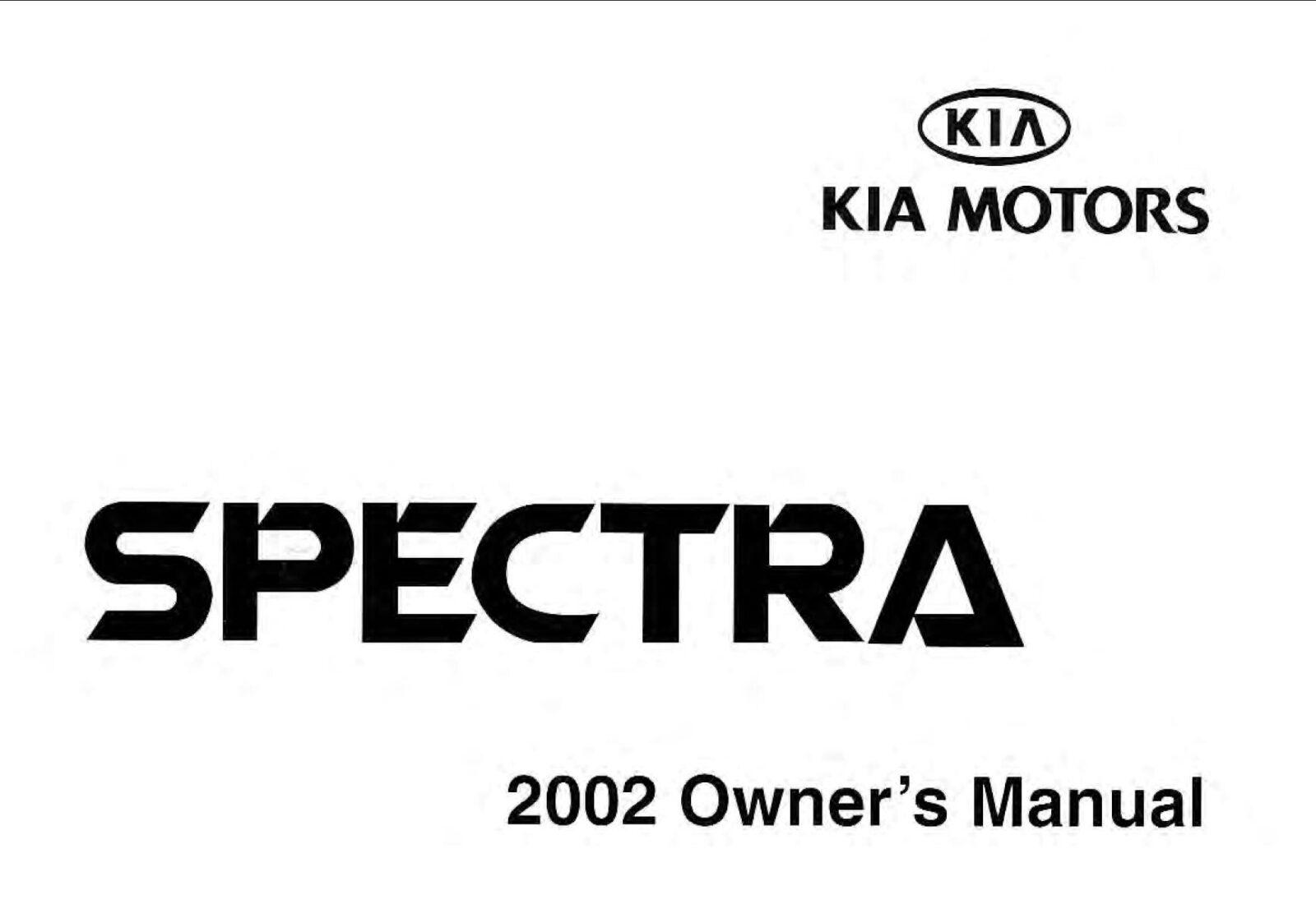 KIA Spectra 2002 Owner's Manual