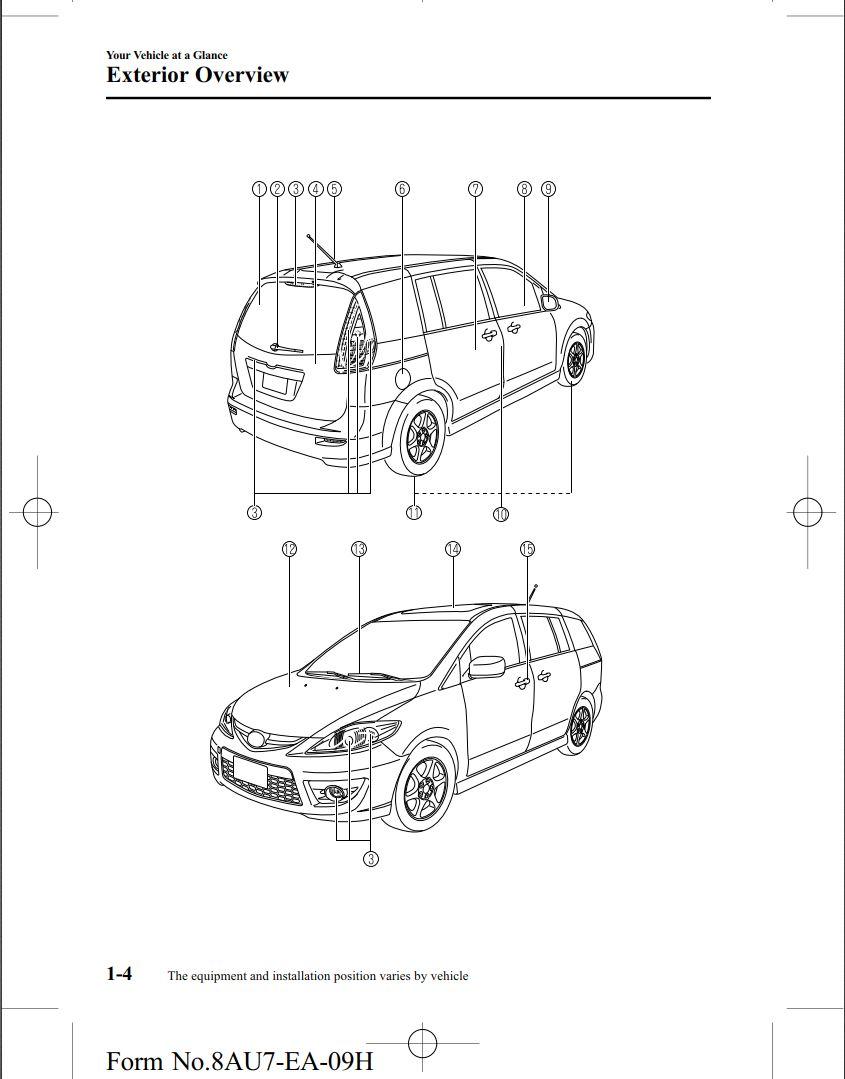 Mazda 5 2010 Owner's Manual