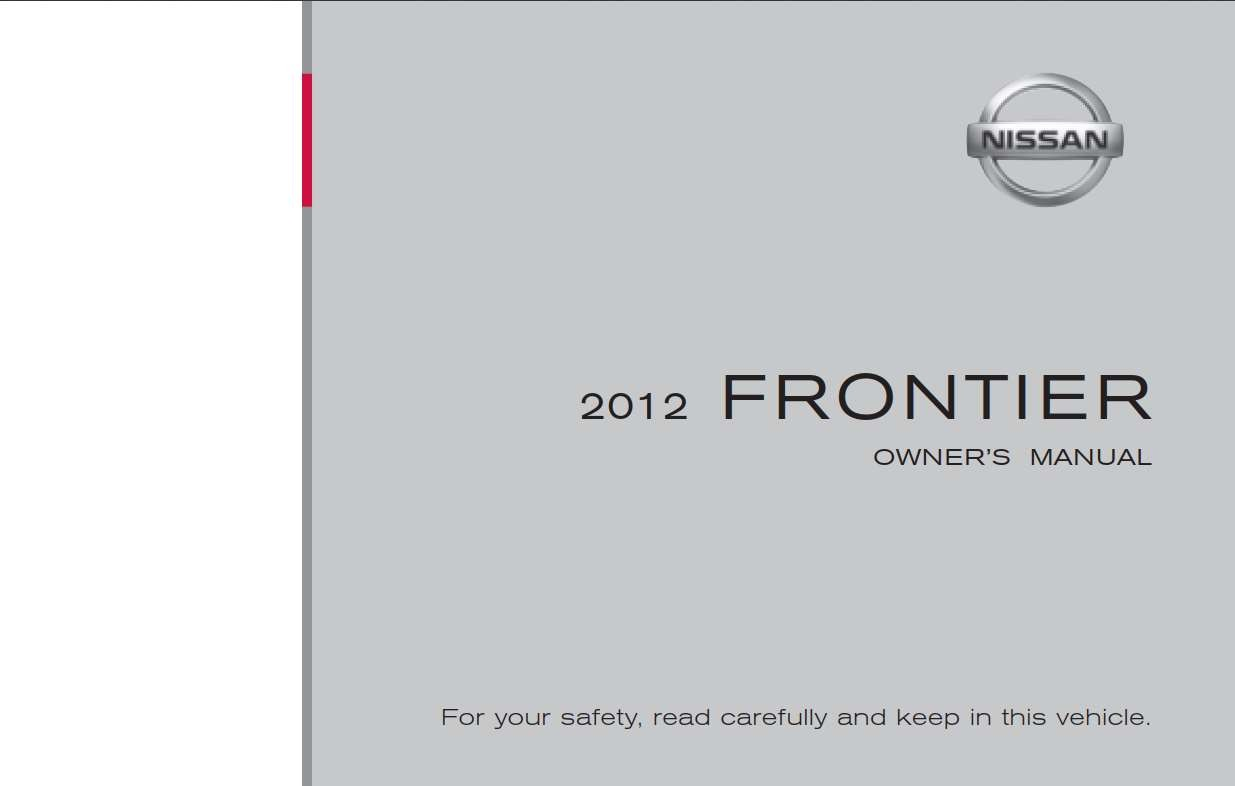 Nissan Frontier 2012 Owner's Manual