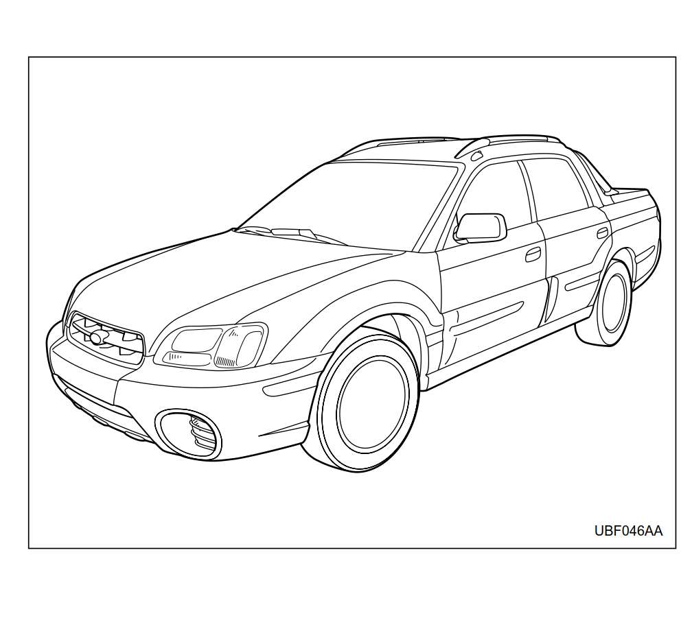 Subaru Baja 2004 Owner's Manual