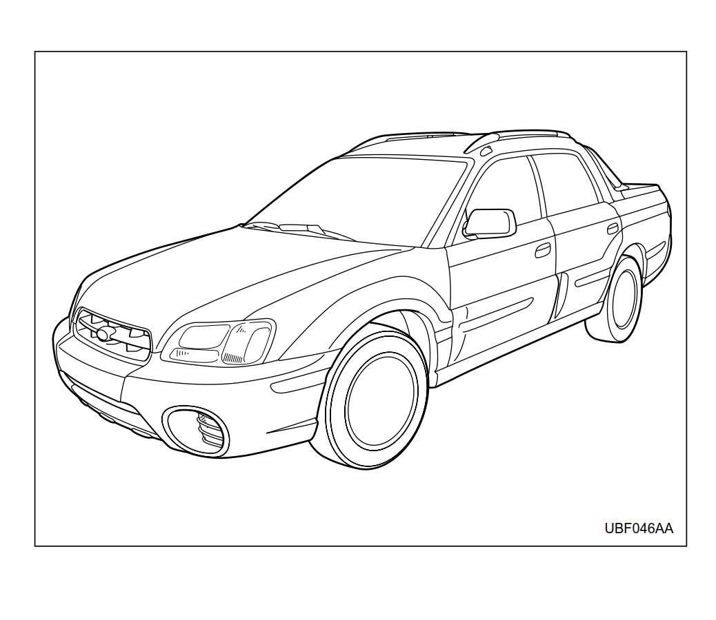 Subaru Baja 2005 Owner's Manual