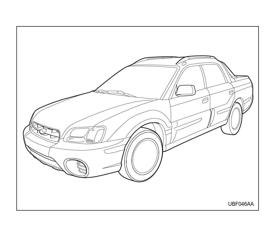 Subaru Baja 2006 Owner's Manual