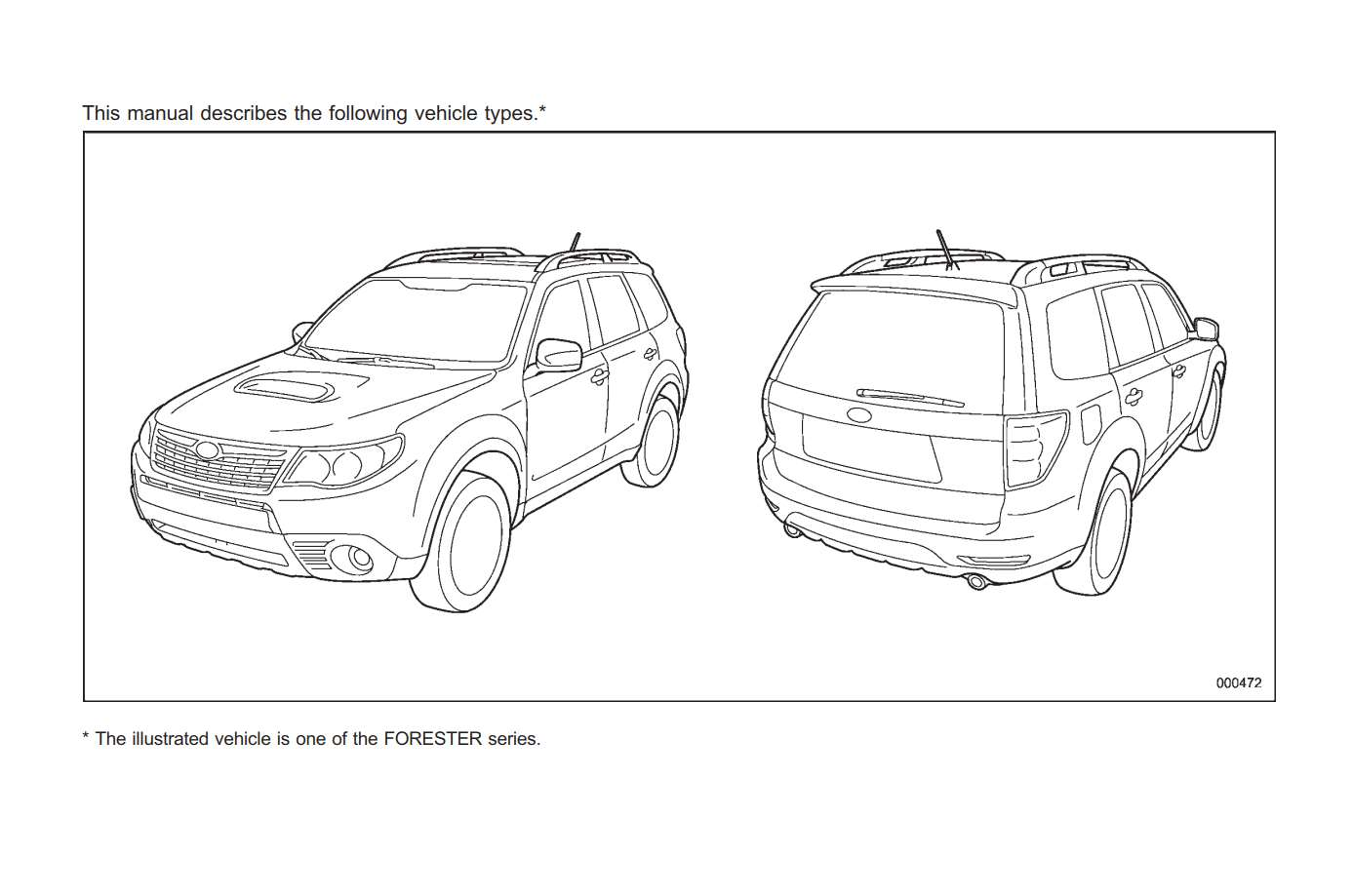Subaru Forester 2009 Owner's Manual