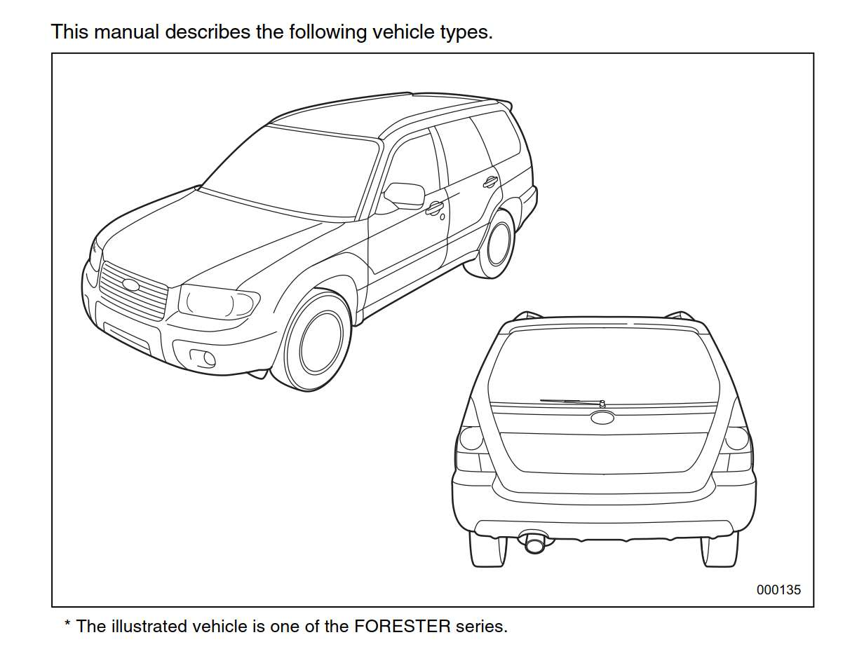 Subaru Forester 2.5x 2007 Owner's Manual