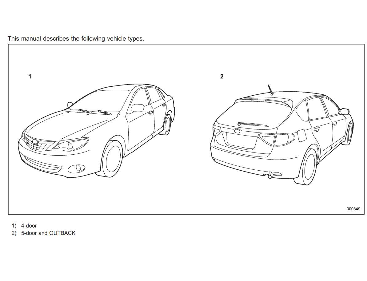 Subaru Impreza 2008 Owner's Manual