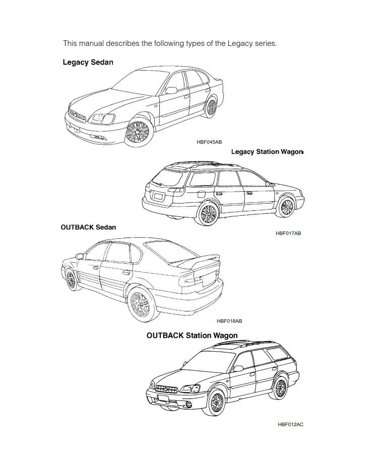 Subaru Legacy 2003 Owner's Manual