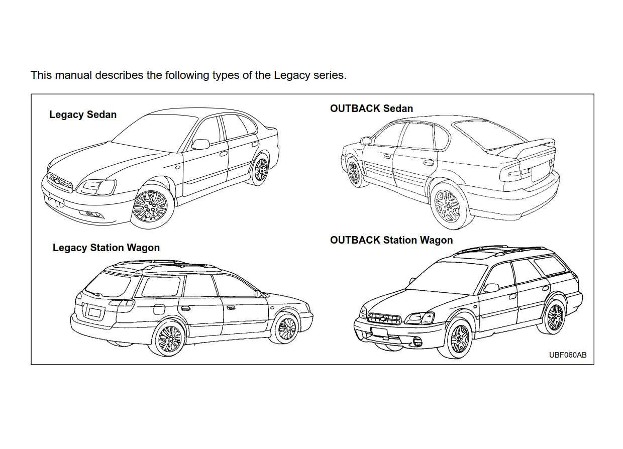 Subaru Legacy 2004 Owner's Manual