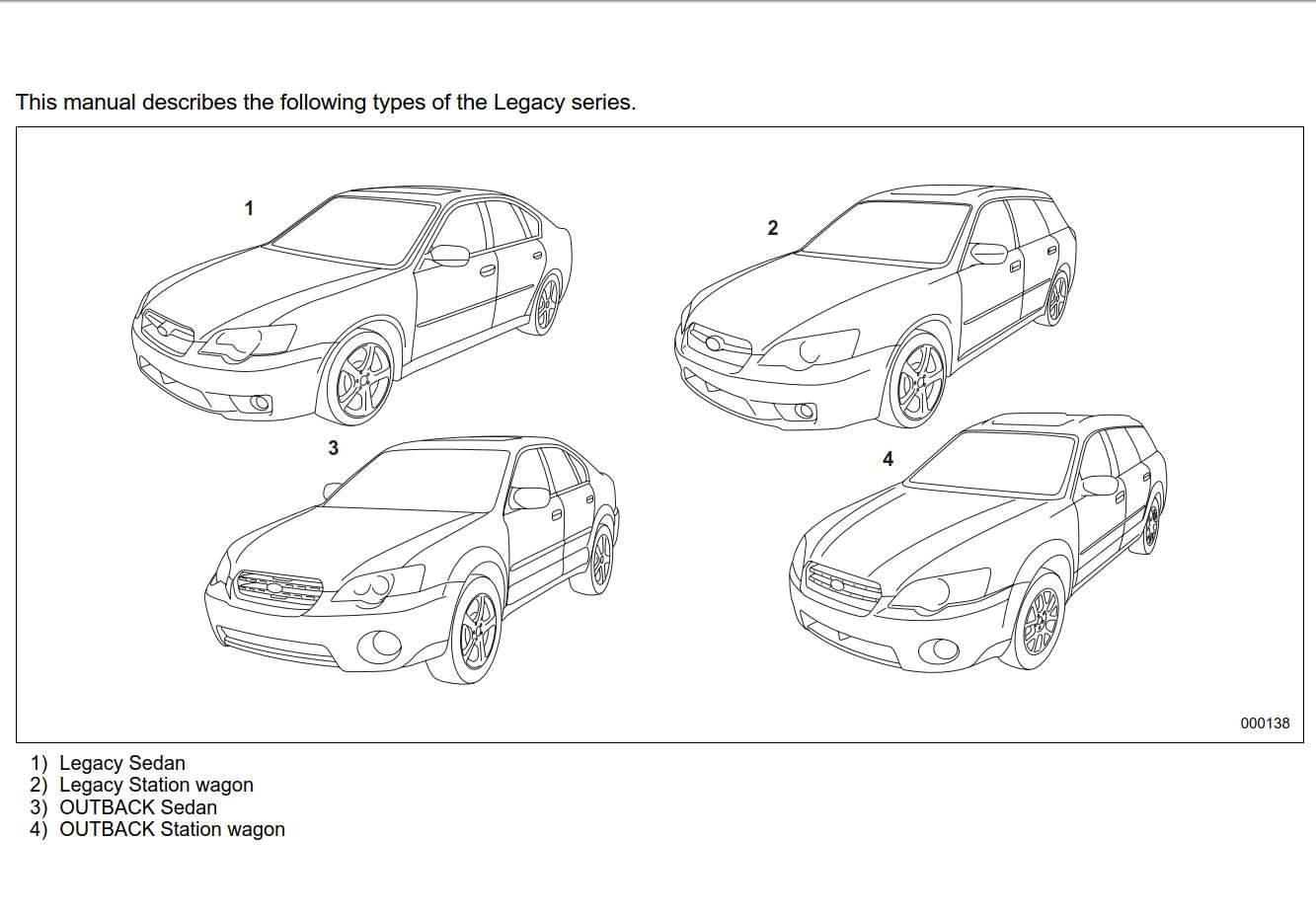 Subaru Legacy 2006 Owner's Manual