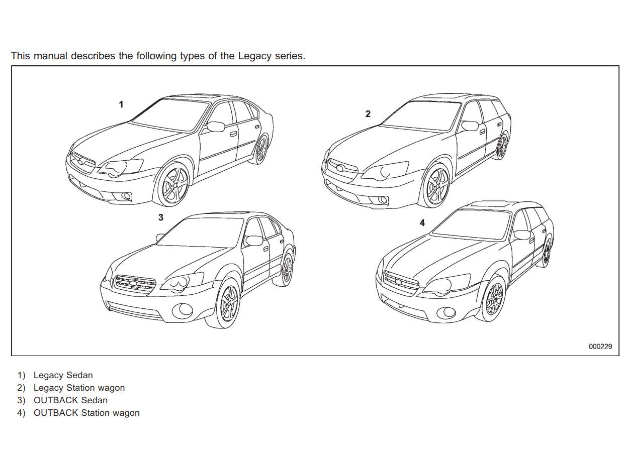 Subaru Legacy 2007 Owner's Manual