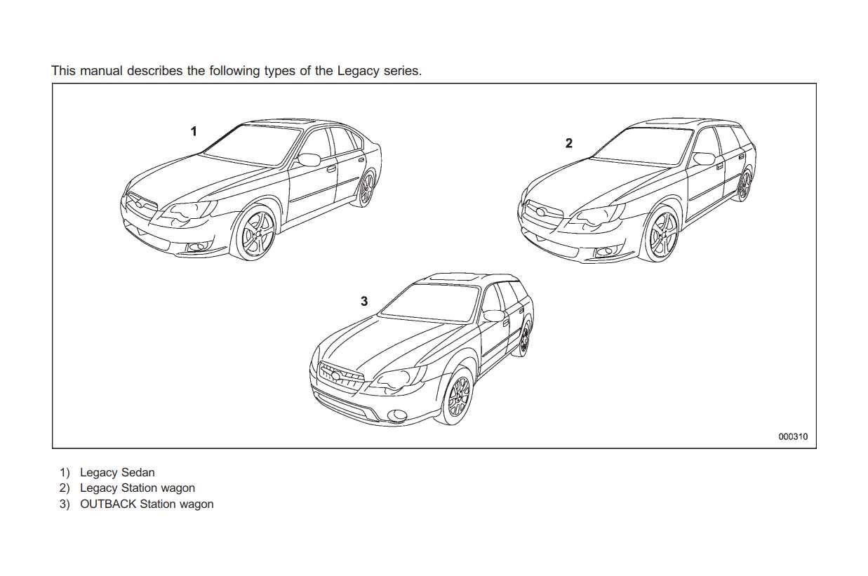 Subaru Legacy 2009 Owner's Manual