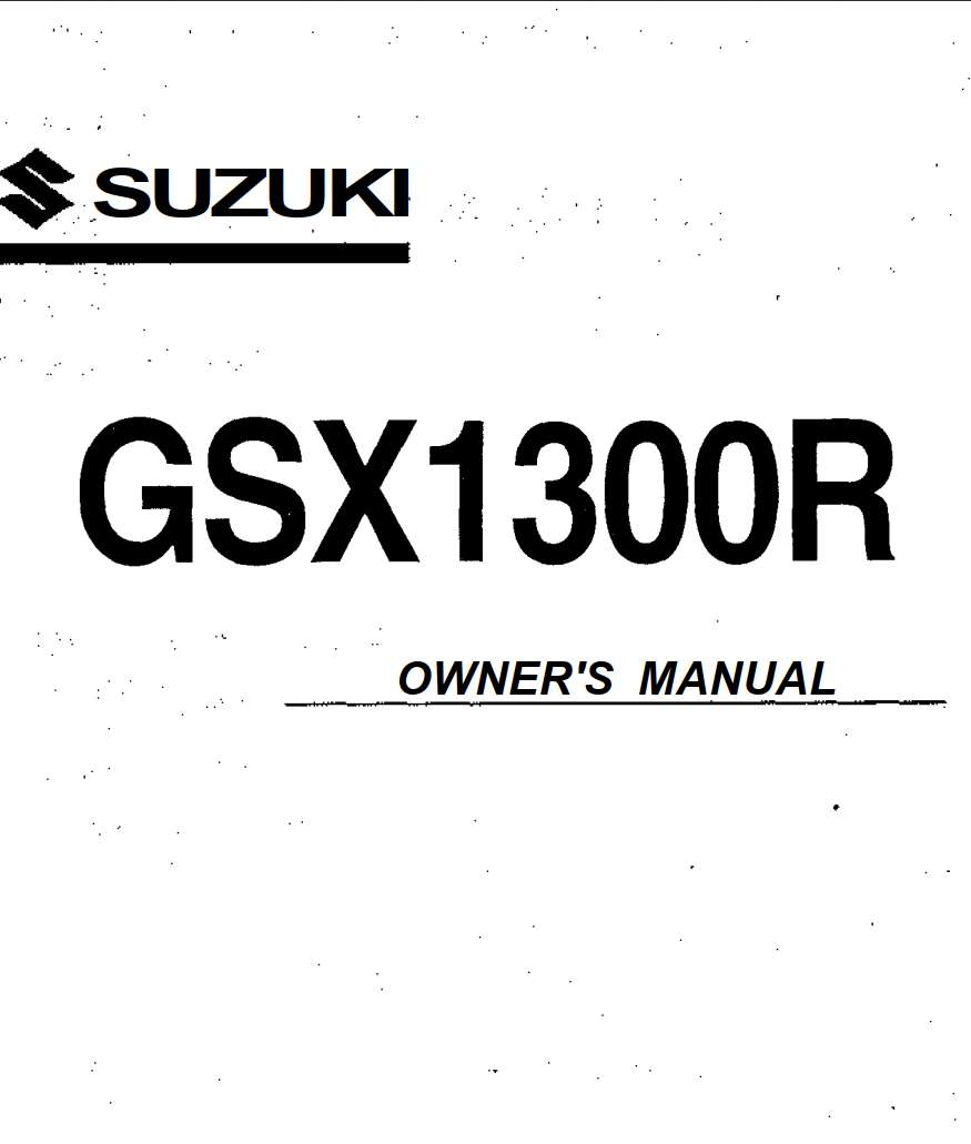 Suzuki GSX 1300 R Owner's Manual