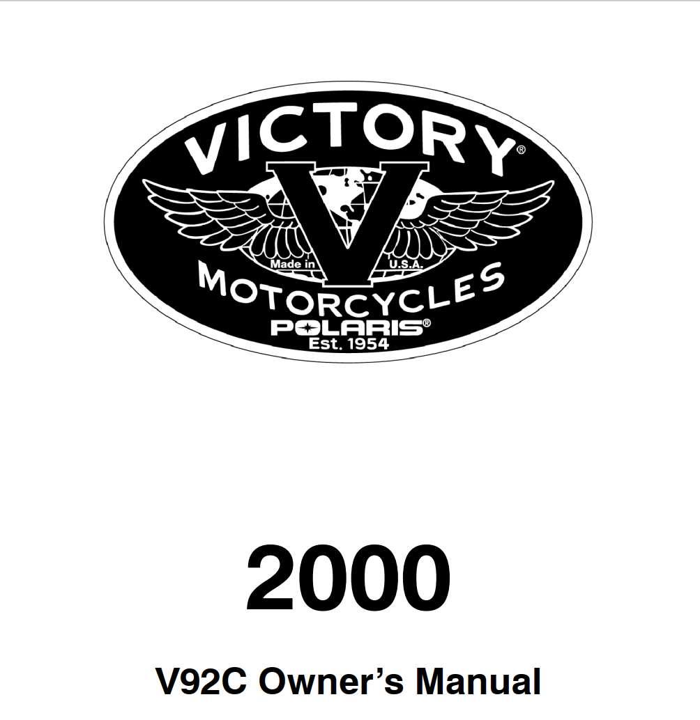Victory V92C 2000 Owner's Manual