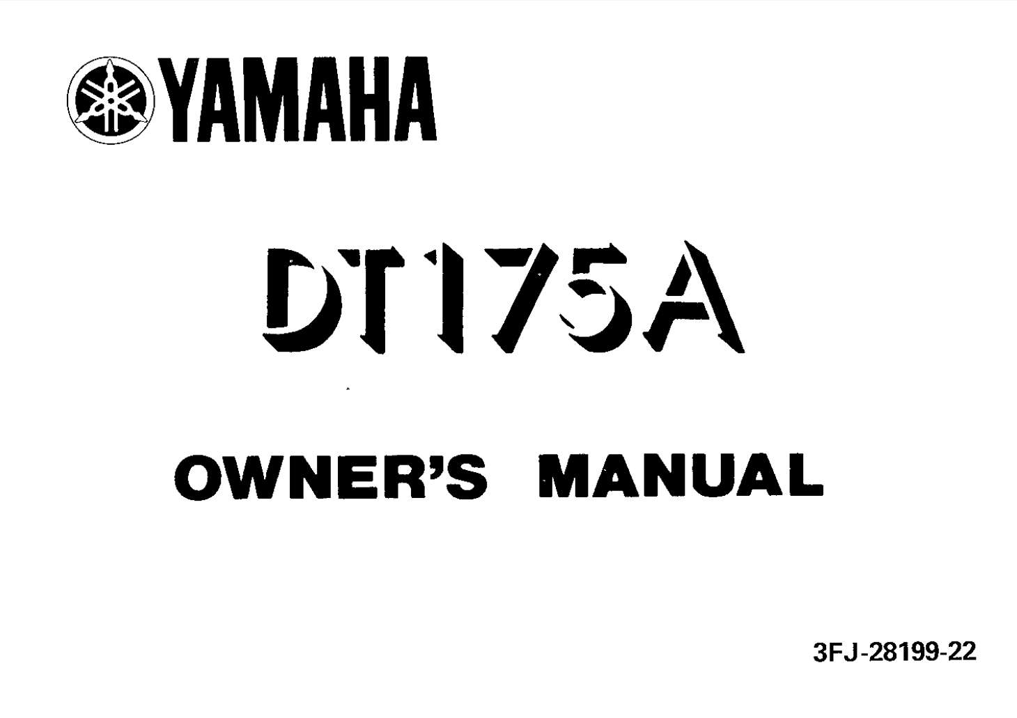 Yamaha DT175 A 1990 Owner's Manual