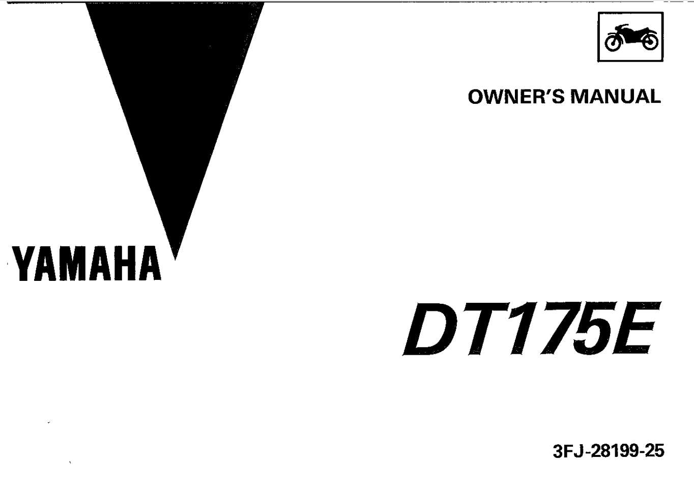 Yamaha DT175 E 1993 Owner's Manual