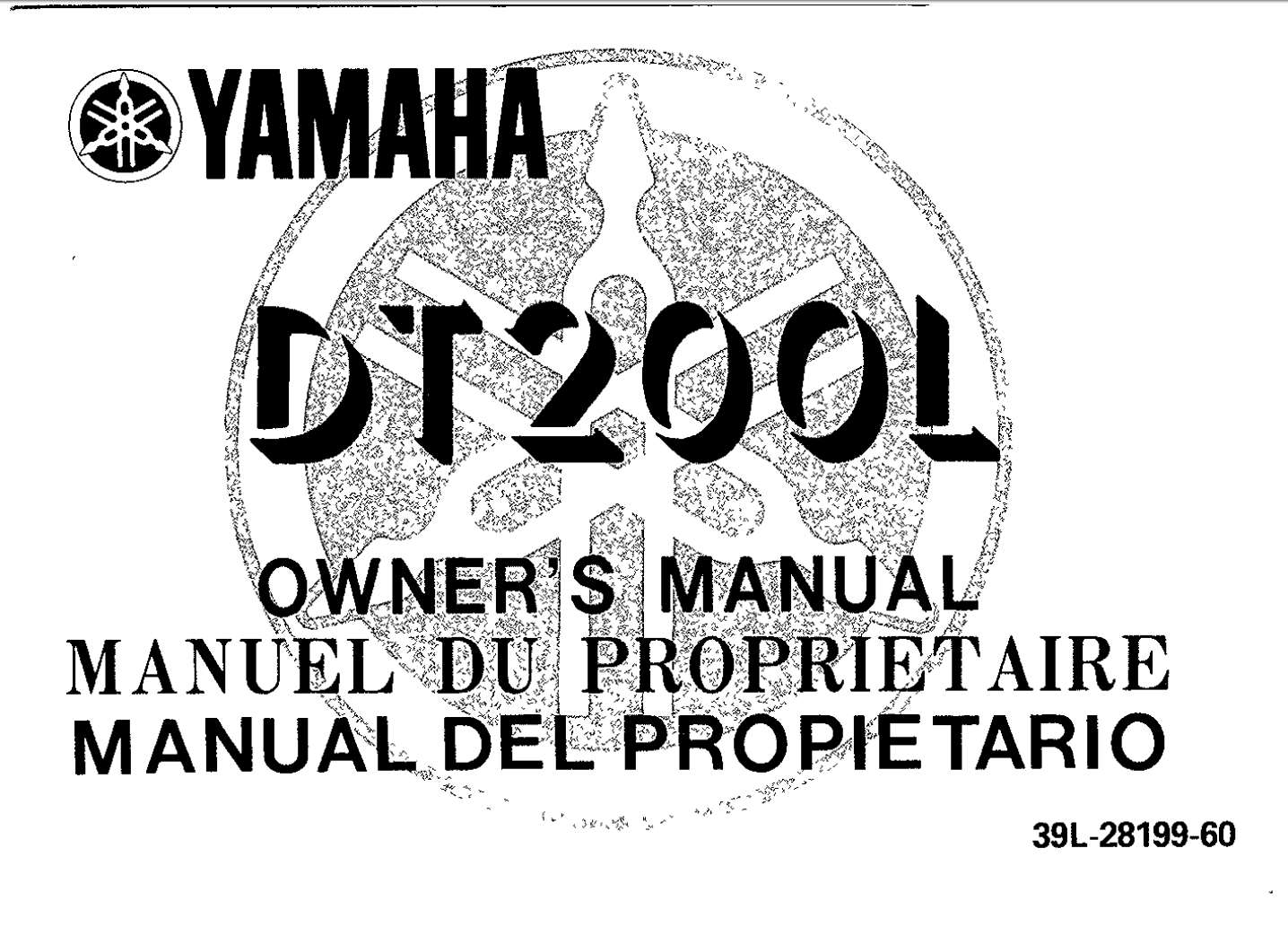 Yamaha DT200 L 1985 Owner's Manual