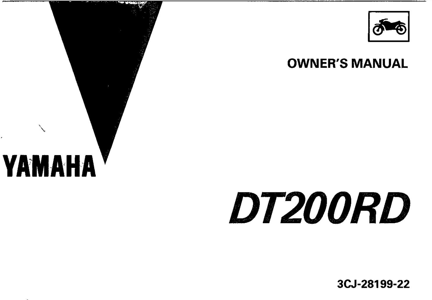 Yamaha DT200 RD 1992 Owner's Manual