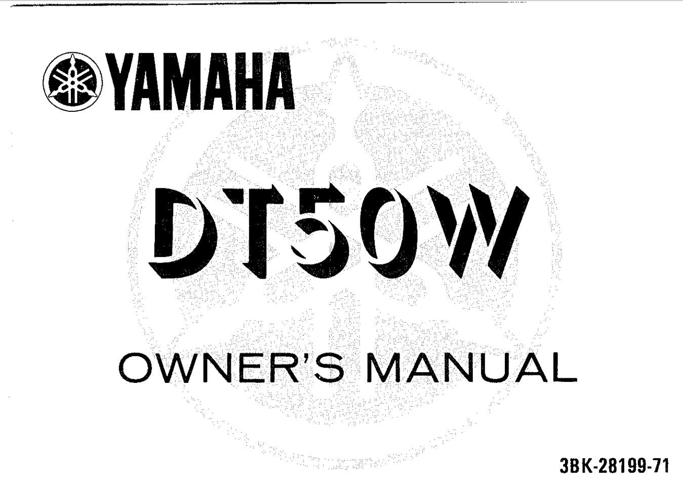 Yamaha DT50 W 1989 Owner's Manual