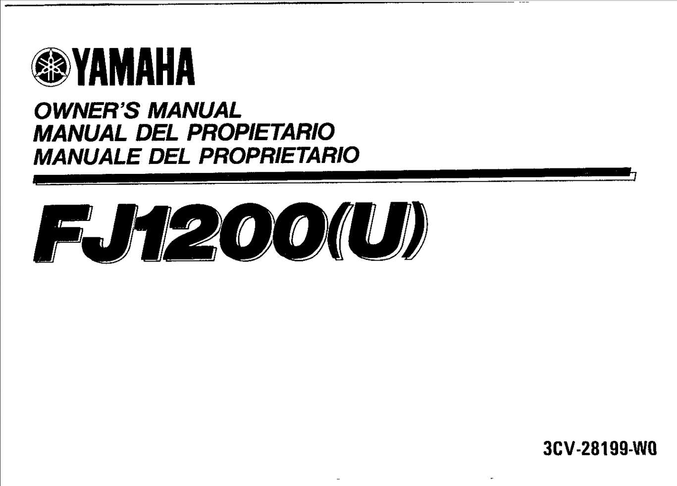 Yamaha FJ1200 U 1988 Owner's Manual