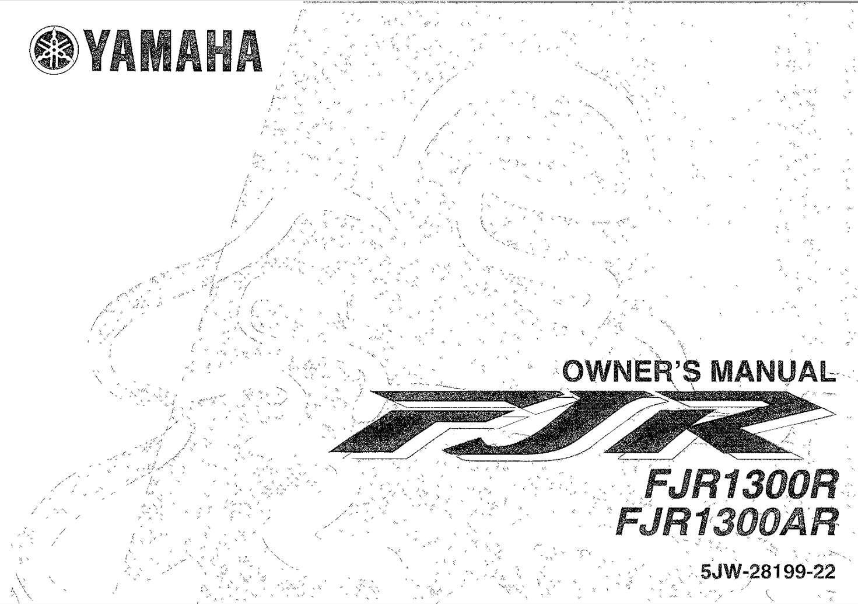 Yamaha FJR1300 (R) (AR) 2003 Owner's Manual